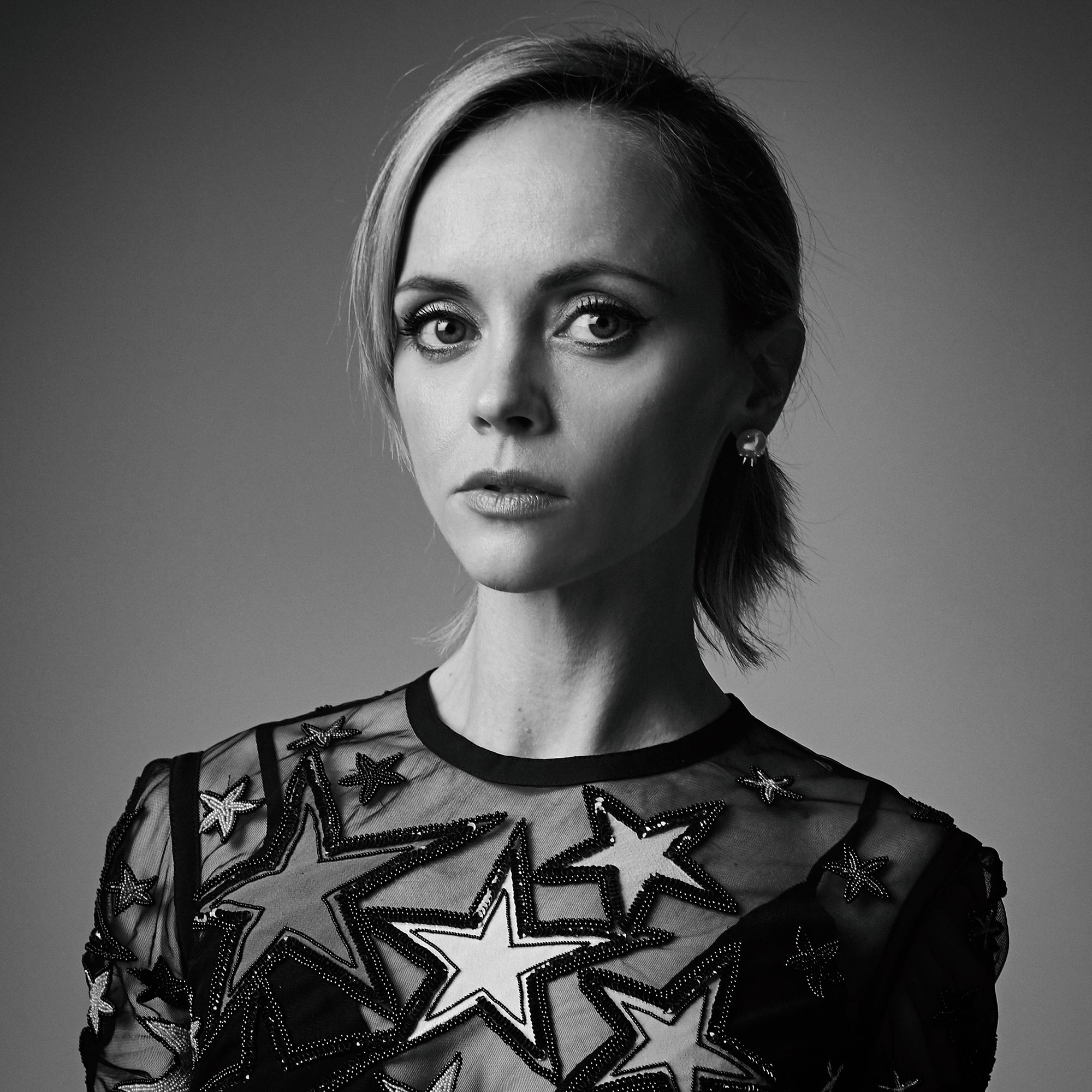 Christina Ricci Black and White Portrait